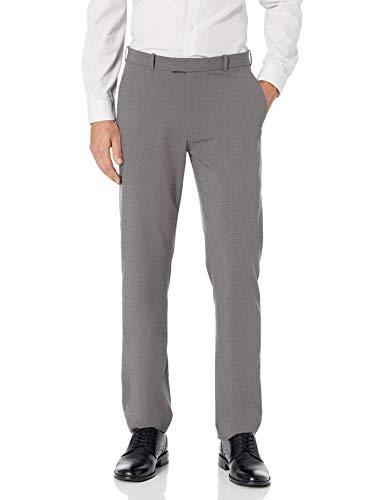 : Haggar Men's Premium No-Iron Expandable-Waist Plain-Front Pant