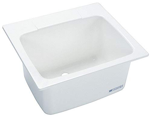 MUSTEE 10 MUSTEE 22 in. x 25 in. x 13.75 in. Molded Fiberglass Drop in Utility Sink in White