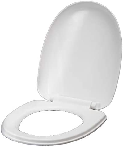 ホワイト便座ABS肥厚の交換ユニバーサルトイレカバースロー閉会世帯3抗菌ラウンド (サイズ : O Type)