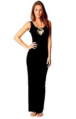 TrendyFashion - Vestido - Básico - Sin mangas - para mujer negro