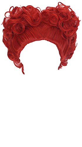 MSHUI Alice's Adventures in Wonderland Red Queen Anime Cosplay Short Curly Hair -