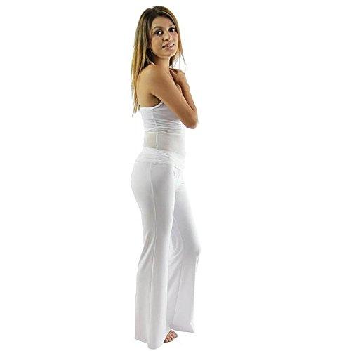 Danzcue Two-piece Transparent Cotton Adult Belly Dance Costume, White, (White Two Piece Dance Costumes)