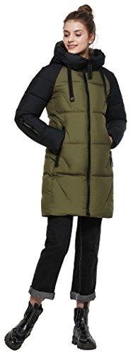 Donna Verde Sottile Giacca Invernali Abbigliamento Piumino Inverno Antivento length Mid Addensare Cappotto Icebear Donne pXOwT