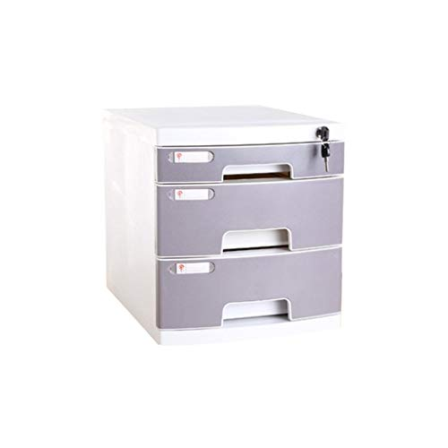 - File cabinets LITING A4 Thickened with Lock Drawer File Office Information File Finishing Box Storage Box Storage Cabinet (Color : Gray)