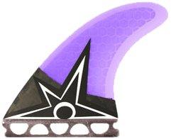 Kinetic Racing Bruce Irons Carbo Tune Small Future Surfboard Fins, Purple/Black by Kinetic Racing   B00B3QZWZ8