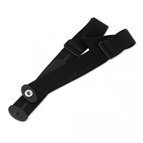 Heart Rate Monitor Chest Strap Replacement w/ button style fastemers Works with Most Common Heart Rate Monitors by Rizzo Sports
