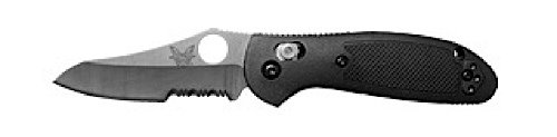Benchmade Pardue Design Mini-Griptillian Combo Edge Knife, Outdoor Stuffs
