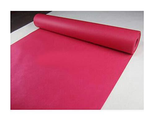 (SMALL FAT Wedding Party Carpet Rug Aisle Runner Decoration Nonwoven 80cmx10m 18colors 23097,Fuchsia,80cm x)