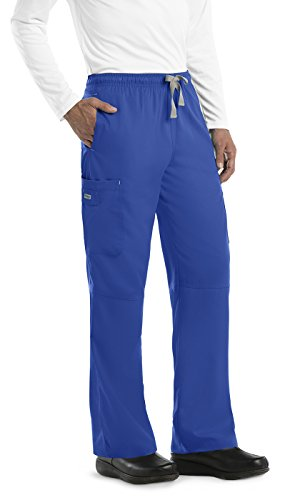 6 Pocket Cargo Pant (Grey's Anatomy Men's 6 Pocket Cargo Pant XXX-Large New Royal)