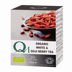 (Pack of 6) Qi - Organic White Tea & Goji Berry 20 Bag by Qi