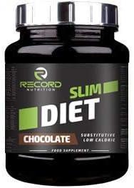 Record protein Slim Diet 800gr, sustitutivo de Comida, para dietas Baja en Grasas, Sabor Chocolate.