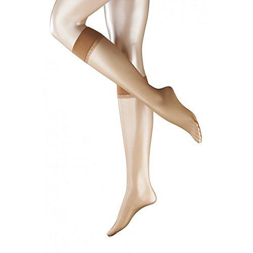 FALKE Damen Kniestrümpfe Shelina 12 Denier - Ultra Transparent, 1 Paar, Versch. Farben, Größe 35-42 - Feinkniestrümpfe mit Matt-Effekt, Sensitive-Top Bündchen