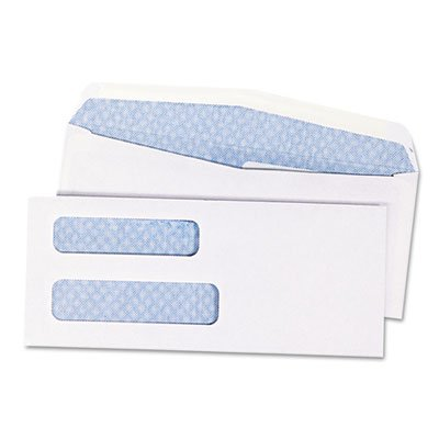 Quality Park Double Window Security Tinted Check Envelope, #8, White, 1000/Box