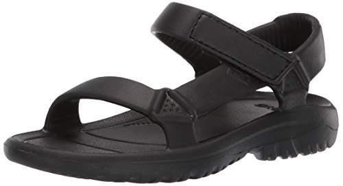 Teva Unisex K Hurricane Drift Sport Sandal Black 3 Medium US Little - Teva Sandals Boys