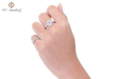 [KS-Jewelry Diamond-CZ Ring Chu Shoulders side Medium 3Carat Beauty Diamonds-RS007 (7)] (Hammer And Nail Halloween Costumes)