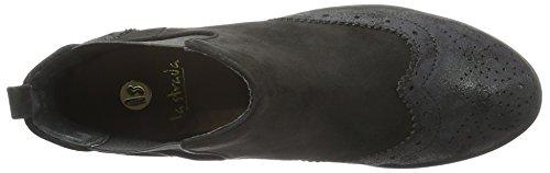 La Strada Damen 903318 Chelsea Boots Schwarz (1401 - Creacked micro black)