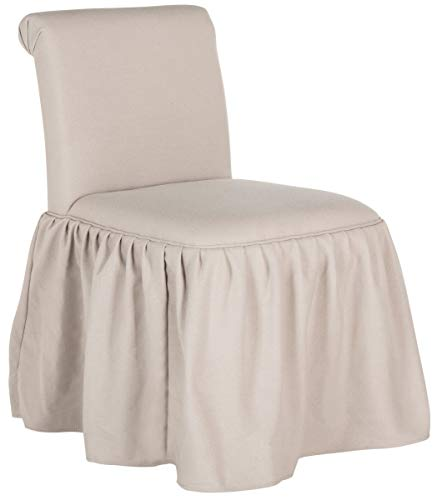 Safavieh Mercer Collection Ivy Taupe Vanity Chair (Skirted Stool)