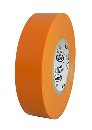 PROFESSIONAL ELECTRICAL TAPE ELECTRICAL TAPE UL/CSA LISTED CORE. UTILITY VINYL RUBBER ADHESIVE ELECTRICAL TAPE: 3/4IN. X 66FT. - FLAME RETARDANT 1 ROLL ORANGE