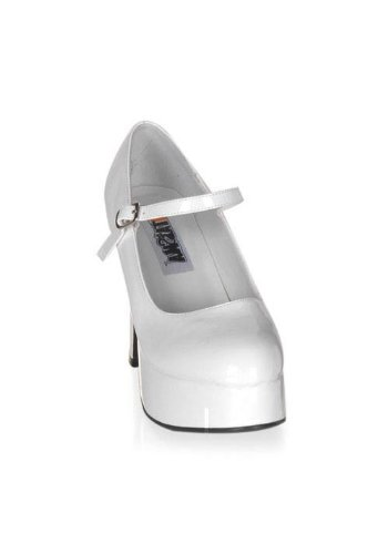 Funtasma by Pleaser Women's Platform Mary Jane,White Patent,6 M (White Shoes Jane Adult)