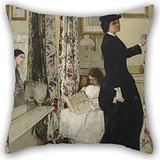 - Artistdecor 16 X 16 Inches / 40 By 40 Cm Oil Painting James McNeill Whistler - Harmony In Green And Rose- The Music Room Pillow Shams ,twice Sides Ornament And Gift To Home Theater,floor,christmas,g
