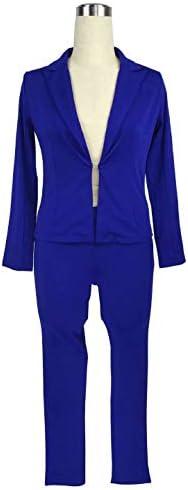 Royal blue pant suits _image4