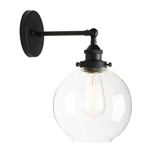 - Permo Wall Sconce Vintage Industrial 1-Light Rustic Wall Mount Light Fixture with 7.9