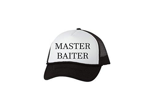 Rogue River Tactical Funny Fishing Trucker Hat Master Baiter Baseball Cap Retro Vintage Joke Fish (Black), Large (Trucker Masters Hat)