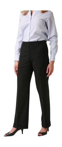 Slacks Wool Pants (woolmaster Women's Seasonless Wool Dress Pant 12 Black)