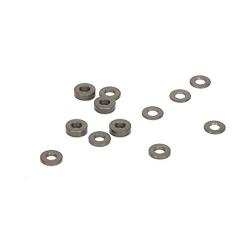 Team Losi Caster Block Alum Ballstud Spacers (4ea): (Alum Spacer)