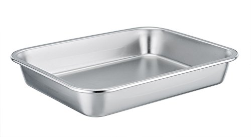 (TeamFar Stainless Steel Square Rectangular Pan Hi-Side Pan, Compact Size 8''x10''x1.7'', Healthy & Non toxic, Easy Clean, Dishwasher Safe)