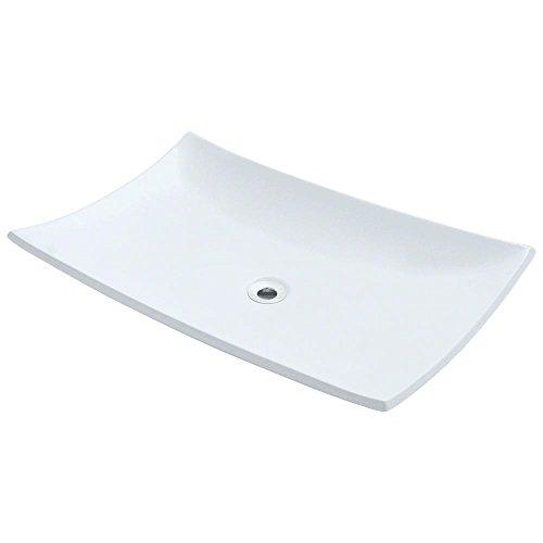 MR Direct V360-W White Porcelain Vessel Lavatory Sink