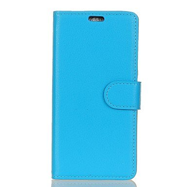 Casos hermosos, cubiertas, Funda Para Samsung Galaxy A5(2017) A3(2017) Cartera Soporte de Coche con Soporte Flip Cuerpo Entero Color sólido Dura Cuero Sintético para ( Color : Azul , Modelos Compatibl Blanco