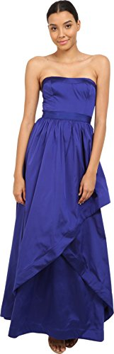Adrianna Papell Women's Strapless Taffeta Cross Front Ball Gown, Neptune, - Taffeta Strapless Evening Dress