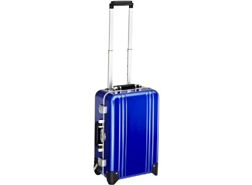 Zero Halliburton Classic Polycarbonate Carry On 4 Wheel Spinner Travel Case, Blue, One Size