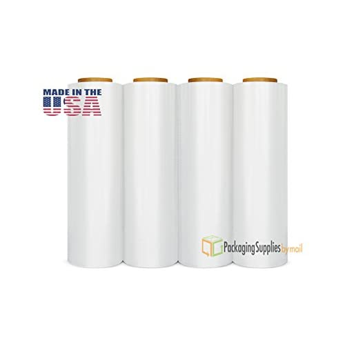 (4 ROLLS) BLOWN STRETCH WRAP FILM 18 x 1000 x 120 GAUGE STRETCH WRAP for sale