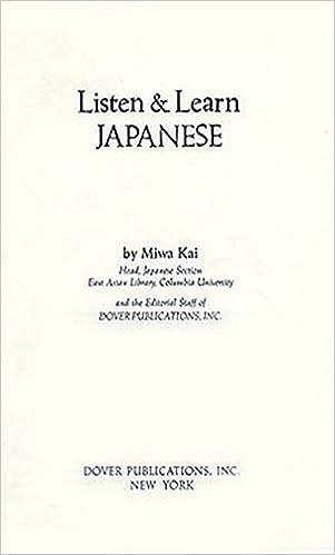 Lataa pdf ebook mobiililaitteille Listen & Learn Japanese (Manual Only) (Listen & Learn Series) in Finnish PDF iBook PDB 0486252779
