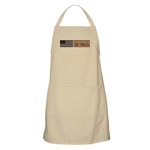 CafePress U.S. Air Force: Retired Kitchen Apron with Pockets, Grilling Apron, Baking Apron (Air Force Apron Bbq)
