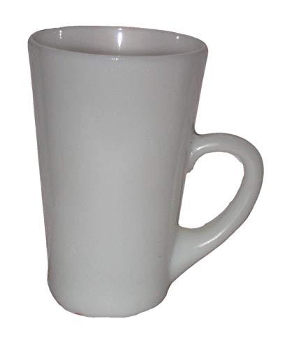- Vintage White Milk Glass Tall 5 x 3 1/4 Inch Coffee Tea Mugs Cups, Set of 4