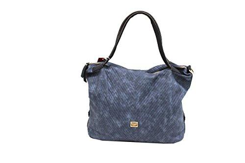 Borsa donna Naj Oleari l.zip mod.shopping a mano piccola 61373 jeans