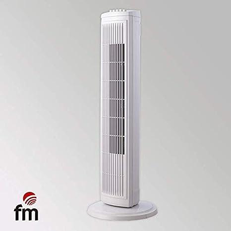 Ventilador DE Torre FM VTR Blanco 45W 3 Niveles Potencia ...