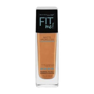 Maybelline New York Fit Me! Matte + Poreless Foundation, Warm Honey [322] 1 oz (Pack of 2)