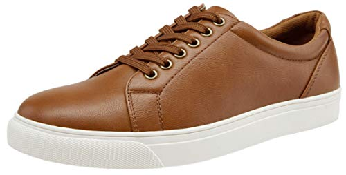(VOSTEY Men's Sneakers Classic Casual Shoes for Men (10,Yellow Brown))