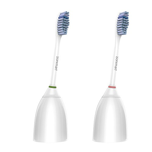 Sonimart Sensitive Premium Replacement Toothbrush Heads for Philips Sonicare e-Series HX7052, 2 pack, fits Sonicare Advance, CleanCare, Elite, Essence and Xtreme Philips Brush Handles
