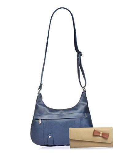 Fostelo Women #39;s Morela Shoulder Bag Blue  FSB 915