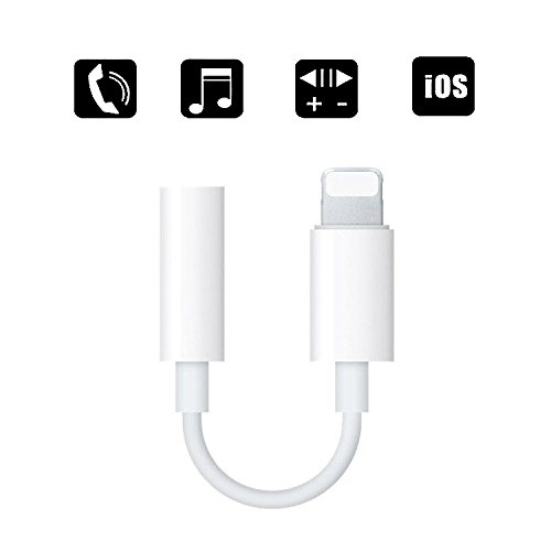 Music Pro Ipod (Lightning to 3.5 mm Headphone Jack Adapter, ZENVAN Connector for iPhone X/iPhone 8/8 plus/iPhone 7/7 plus/iPod Touch/iPad, Support Music Control & Calling Function (iOS 10.3 or Later))