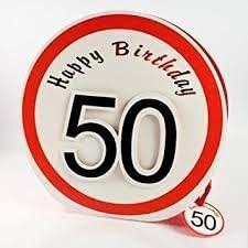Bolsa de Regalo para 50 cumpleaños - Cartón Bolsa con cinta ...