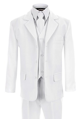 G230 WHITE First Communion and Wedding Suit Set for Boys -