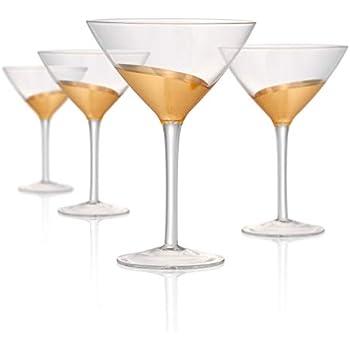 Artland Luxe Gold 12 Ounce Martini Glass Set of 4