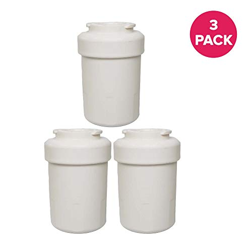 Think Crucial 3 Water Purifier Filter Fits GE Smart Water Refrigerator, Fits MWF, MWF3PK, MWFA, MWFAP, MWFDS, MWFINT, 46-9991, EFF-6013A, Premium Filtration