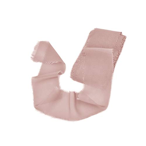 - Mixsuperstore Dusty Rose Chiffon Ribbon Handmade Sample Swatch 2-1/2